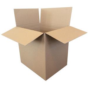 Kartonnen dozen bruin dubbel golf 600x470x615mm rillijn