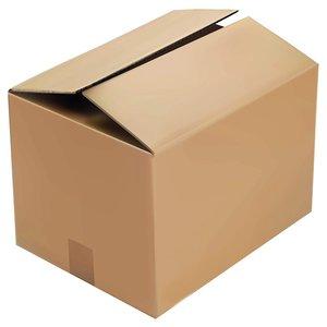 Levering uit voorraad Kartonnen dozen bruin dubbelgolf  380x300x155mm