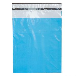 Levering uit voorraad 100x verzendzakken Turquoise Medium Staand