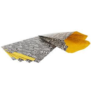 100x Cadeauzakjes met zijvouw Zebra