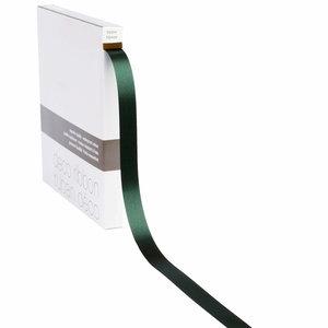 Levering uit voorraad Lint satijn Donker Groen MEDIUM (15mm x 100m)