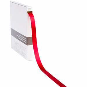 Lint Satijn rood op rol 15mm x 100m