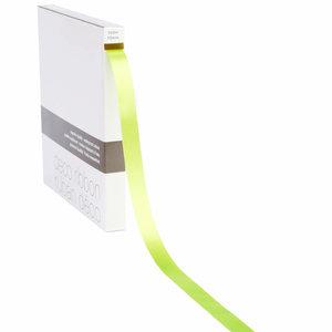 Levering uit voorraad Lint satijn Lime Groen MEDIUM (15mm x 100m)