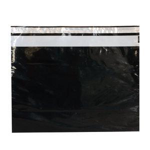 Levering uit voorraad 100x verzendzakken Zwart Large Liggend