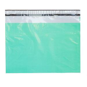 Levering uit voorraad 100x verzendzakken Aqua Large Liggend