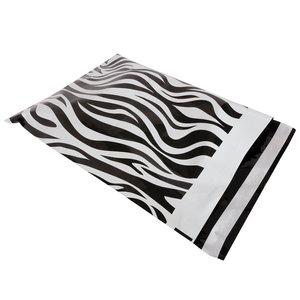 Budget  100x verzendzakken Zebra Medium Staand