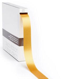 Levering uit voorraad Lint satijn Goud LARGE (25mm x100m)