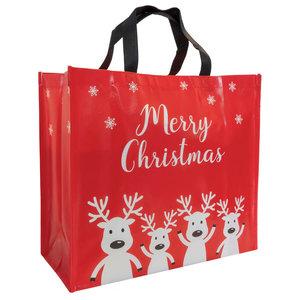 Levering uit voorraad Kerstshopper Merry Christmas Large