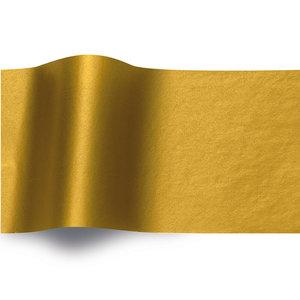 Levering uit voorraad 240 vel Zijdevloeipapier goud 50x70cm