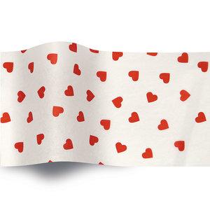 Levering uit voorraad Vloeipapier 50x76cm Rode hartjes