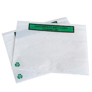 Levering uit voorraad 1000x paklijstenveloppen ECO Documents enclosed /Packing  list A5