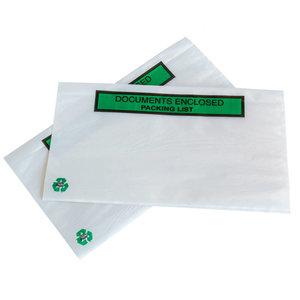 Levering uit voorraad 1000x paklijstenveloppen ECO Documents enclosed/Packing  list A8 DL