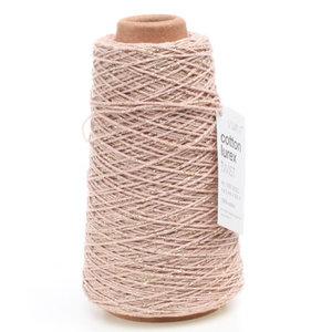 Levering uit voorraad Katoenen touw Roze met goud 2mm x 300m