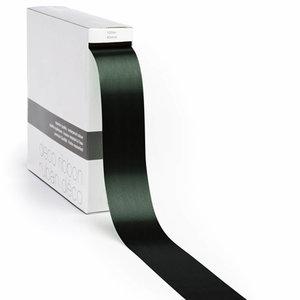 Levering uit voorraad Lint satijn Donker Groen XL (40mm x100m)