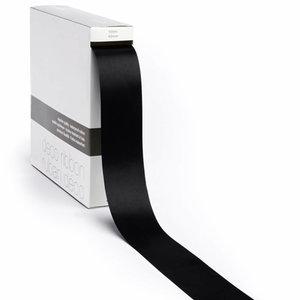Levering uit voorraad Lint satijn Zwart XL (40mm x100m)