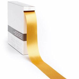 Levering uit voorraad Lint satijn Goud XL (40mm x100m)