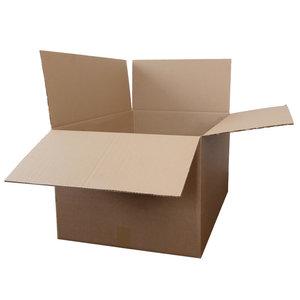 Levering uit voorraad Kartonnen dozen bruin dubbel golf 392x292x195mm
