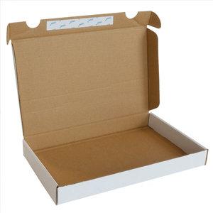 Levering uit voorraad 25x brievenbusdoos bovenlader+plakstrip Wit A5