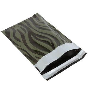 Levering uit voorraad 100x verzendzakken Zebra Groen Small Staand