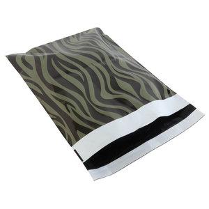 Levering uit voorraad 100x verzendzakken Zebra Groen Medium Staand