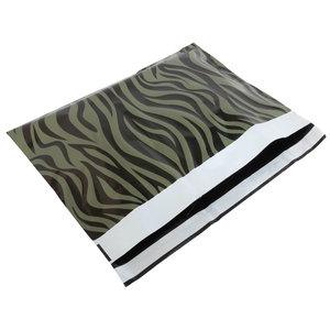 Levering uit voorraad 100x verzendzakken Zebra Groen Large Liggend