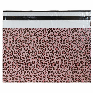 Levering uit voorraad 100x Verzendzakken Luipaard Roze XL Liggend