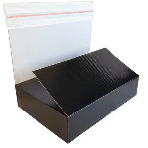 Levering uit voorraad 10x autolock dozen Zwart 380x275x145mm