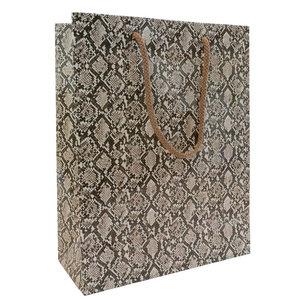 Levering uit voorraad 10x luxe papieren tasjes Snake A4
