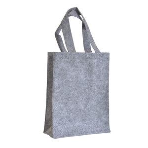 Levering uit voorraad 10x vilten tas Licht grijs A4