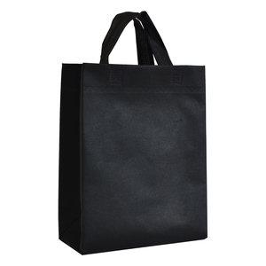 Levering uit voorraad Non woven tas Zwart 25x10x30cm