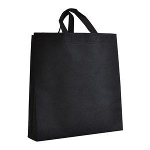 Levering uit voorraad Non woven tas Zwart 38x10x40cm