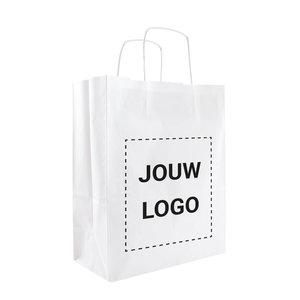 Levertijd ca. 2 weken Papieren tassen A4 Wit met 1 of 2 kleuren bedrukt
