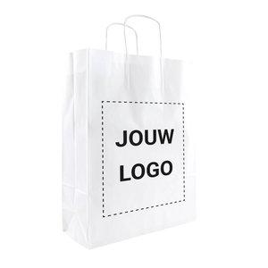 Levertijd ca. 2 weken Papieren tassen A3 Wit met 1 of 2 kleuren bedrukt