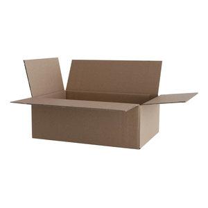 Levering uit voorraad Kartonnen dozen bruin dubbel golf 305x220x150mm