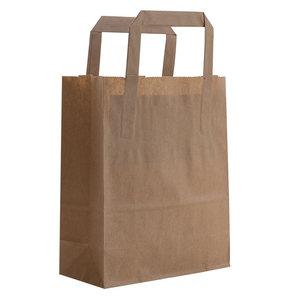 Levering uit voorraad 50x budget tassen bruin XS