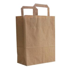 Levering uit voorraad 50x budget tassen bruin S
