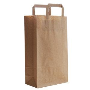 Levering uit voorraad 50x budget tassen bruin M