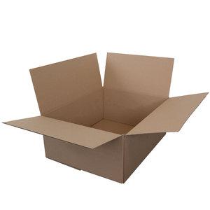 Levering uit voorraad Kartonnen dozen bruin dubbel golf 388x288x227mm