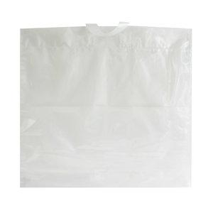 Levering uit voorraad 250x Plastic tassen 54x51+10cm 70my
