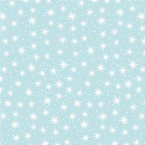 Levertijd ca. 5 werkdagen Inpakpapier Sterretjes Lichtblauw 50cm x 200mtr