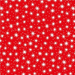 Levertijd ca. 5 werkdagen Inpakpapier Sterretjes Rood 50cm x 200mtr