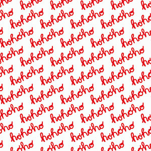 Levertijd ca. 5 werkdagen Inpakpapier Hohoho Rood 30cm x 200mtr