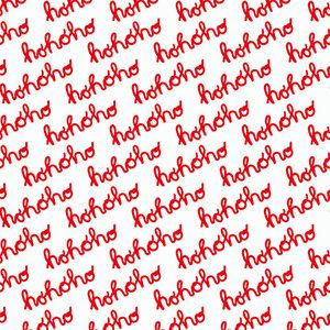 Levertijd ca. 5 werkdagen Inpakpapier Hohoho Rood 50cm x 200mtr