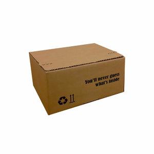 Levertijd ca. 7 werkdagen Autolock dozen Bruin bedrukken 310x230x160mm