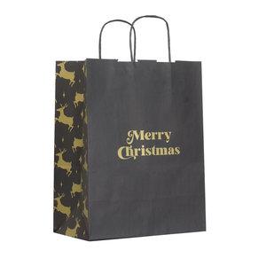 Levering uit voorraad 50x papieren Kersttasjes A4 Golden Reindeer