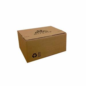 Levertijd ca. 7 werkdagen Autolock dozen Bruin bedrukken 260x220x130mm