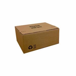 Levertijd ca. 7 werkdagen Autolock dozen Bruin bedrukken 255x180x160mm