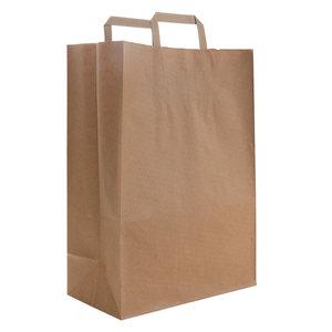 Levering uit voorraad 50x budget tassen bruin M+