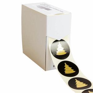 Levering uit voorraad 500x sticker Kerstboom 40mm