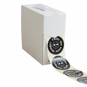 Levering uit voorraad 500x sticker 'Enjoy The Little Things' 40mm